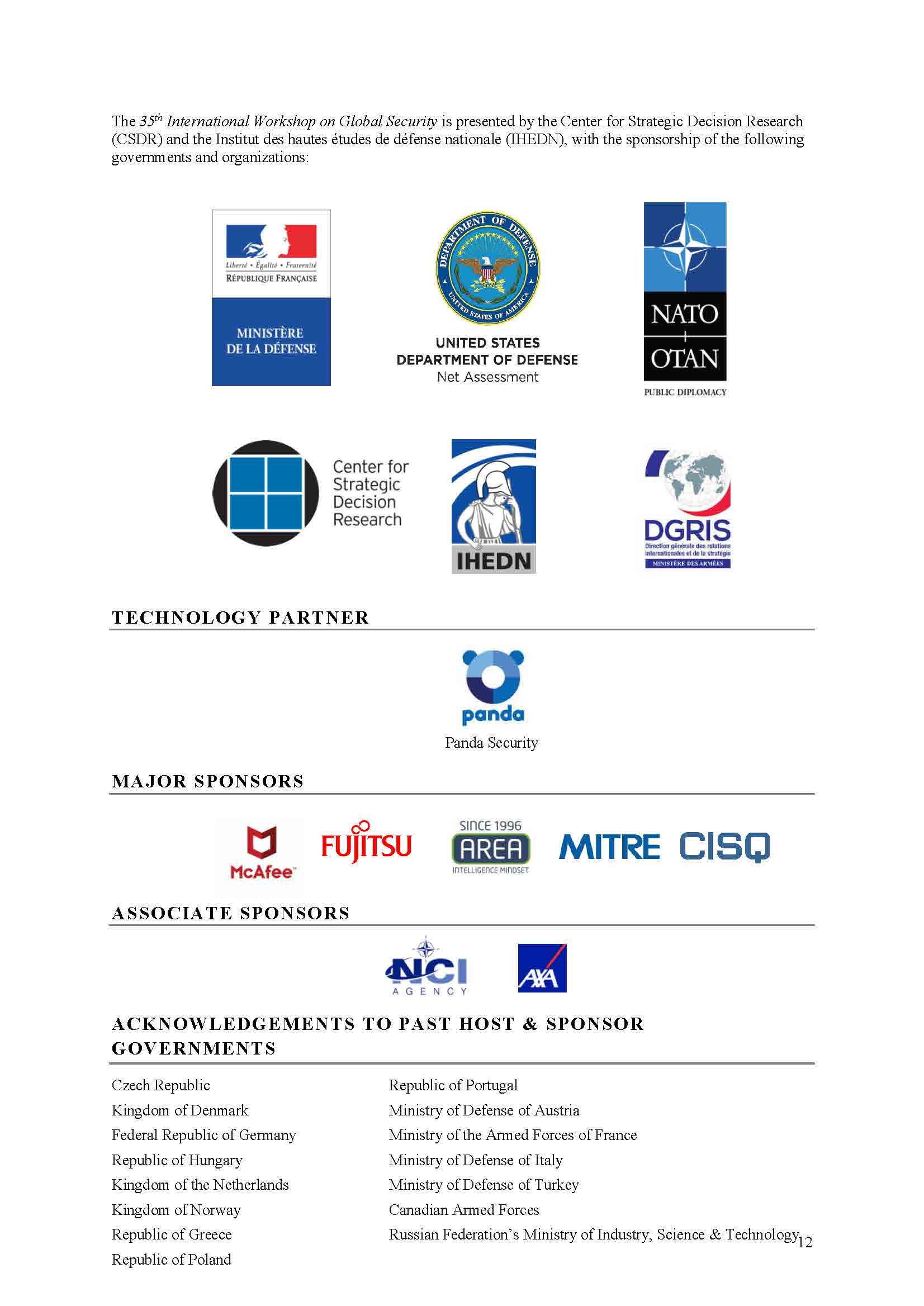 CSDR: Center for Strategic Decision Research - Centre d